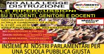Angri: il portavoce del Movimento 5 Stelle Luigi Gallo per discutere della riforma della scuola