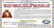 Angri 29 agosto 2016: Celebrazione del Martirio di San Giovanni Battista